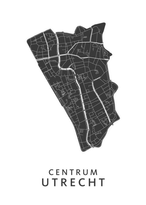 Utrecht - Centrum White Wijk Map