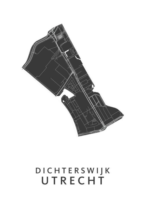 Utrecht - Dichterswijk White Wijk Map