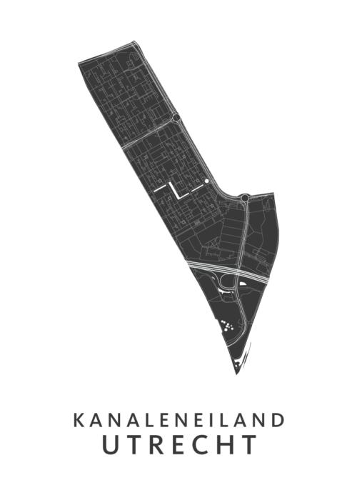Utrecht - Kanaleneiland White Wijk Map