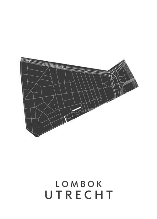 Utrecht - Lombok White Wijk Map