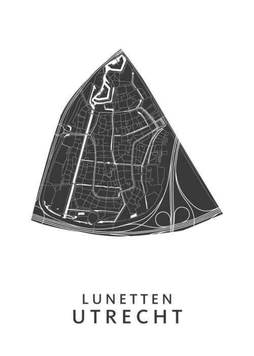 Utrecht - Lunetten White Wijk Map