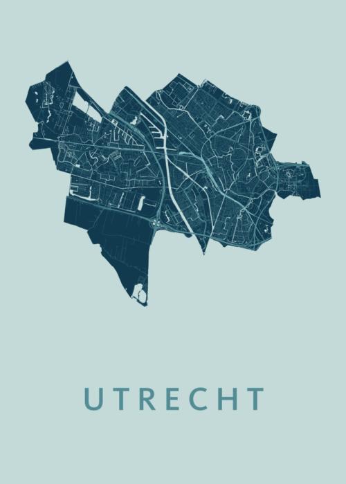 Utrecht Stadskaart poster - Mint