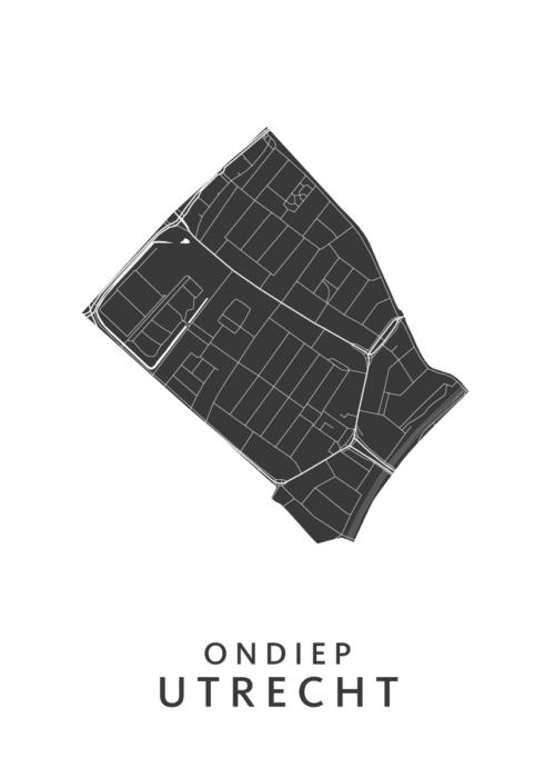 Utrecht - Ondiep White Wijk Map