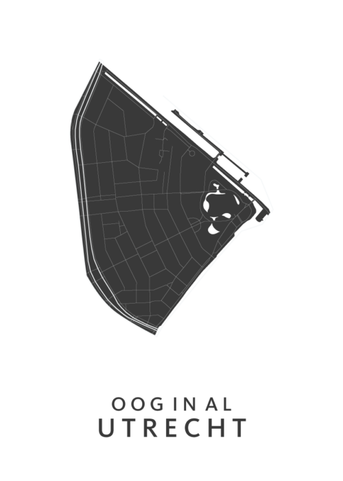 Utrecht - Oog in Al White Wijk Map