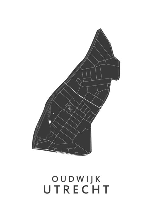 Utrecht - Oudwijk White Wijk Map