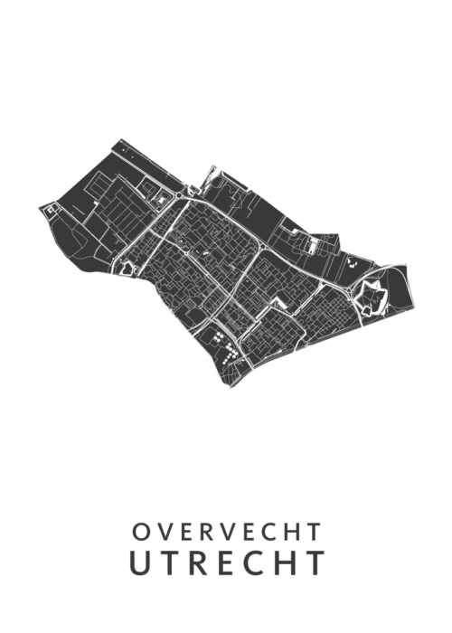 Utrecht - Overvecht White Wijk Map