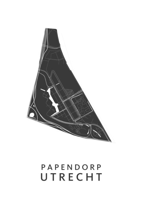 Utrecht - Papendorp White Wijk Map