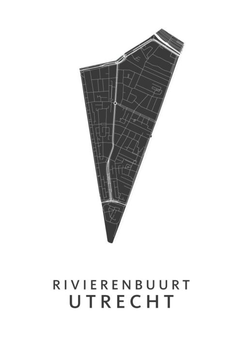 Utrecht - Rivierenbuurt White Wijk Map