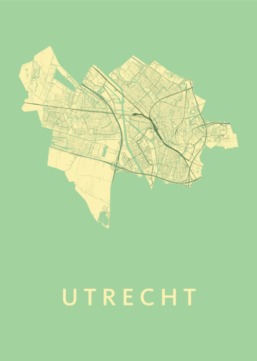 Utrecht Stadskaart poster - Spring