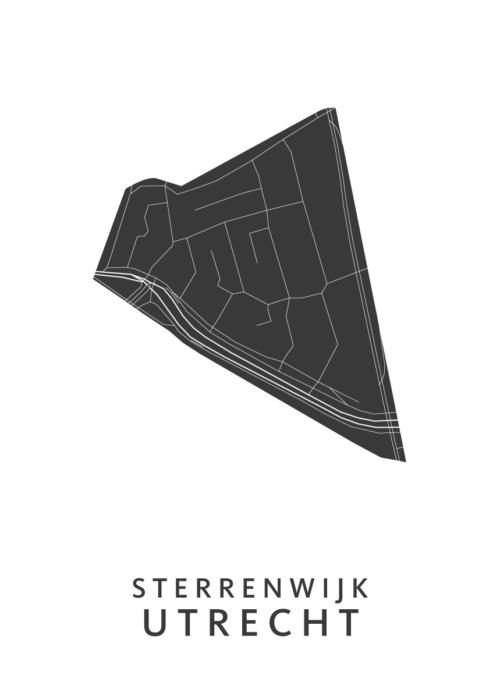 Utrecht - Sterrenwijk White Wijk Map