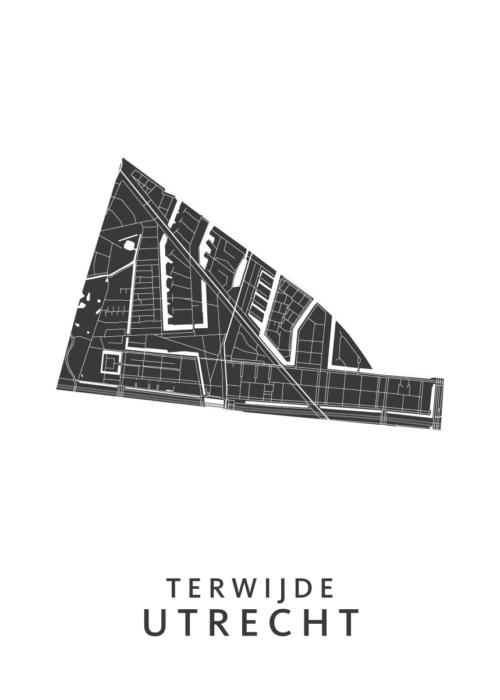 Utrecht - Terwijde White Wijk Map