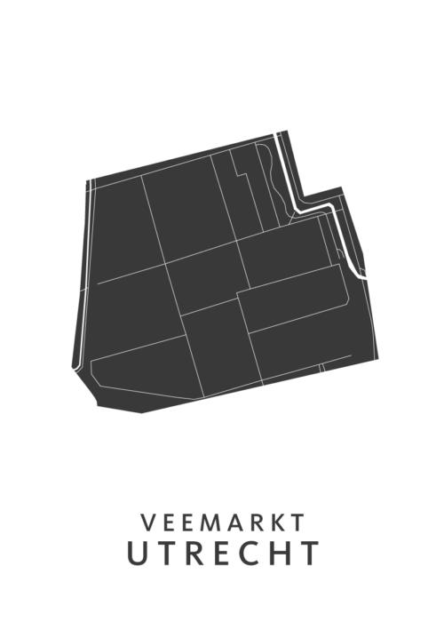 Utrecht - Veemarkt White Wijk Map
