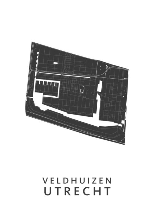 Utrecht - Veldhuizen White Wijk Map