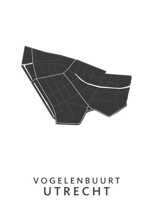 Utrecht - Vogelenbuurt White Wijk Map
