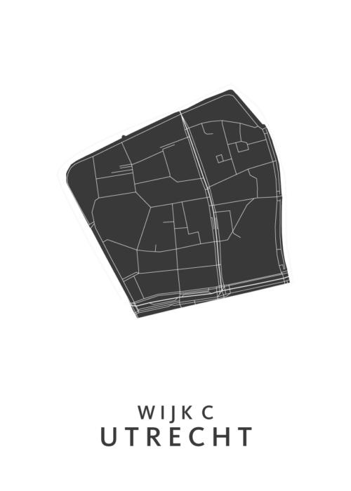 Utrecht - Wijk C White Wijk Map