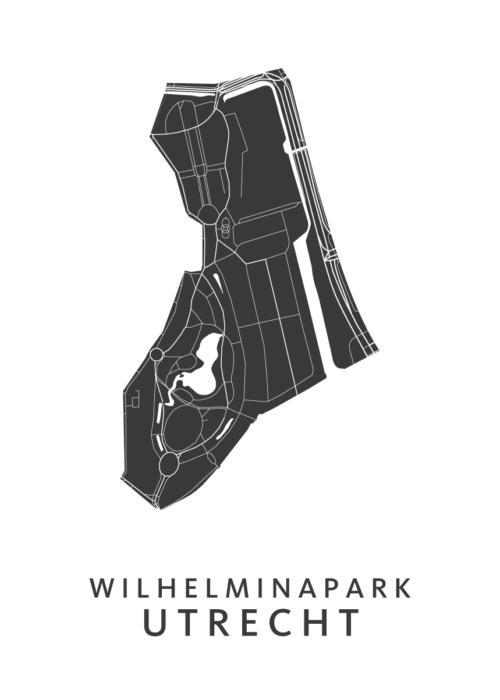 Utrecht - Wilhelminapark White Wijk Map