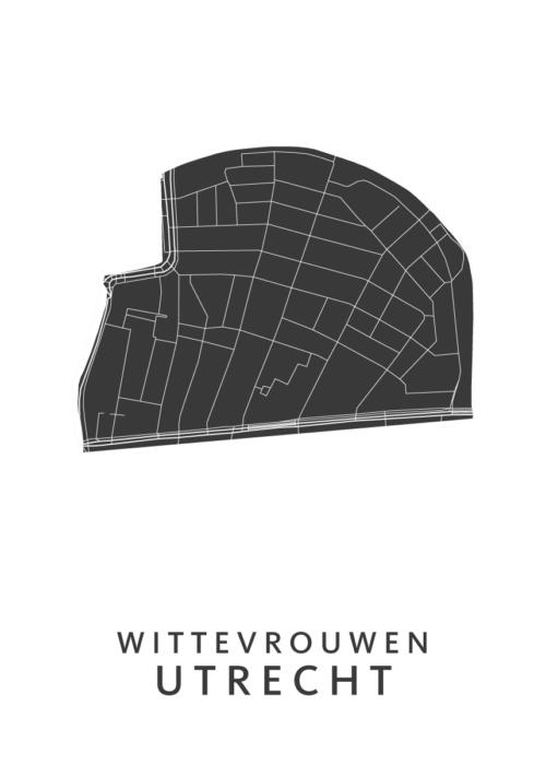 Utrecht - Wittevrouwen White Wijk Map