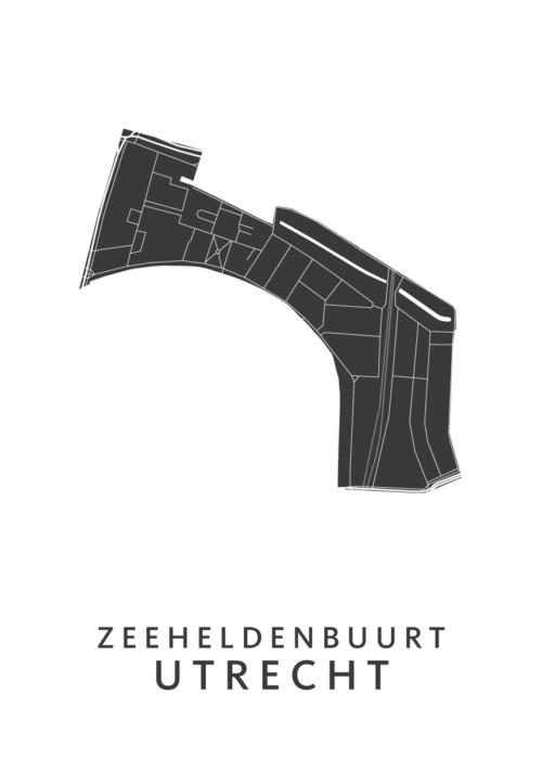 Utrecht - Zeeheldenbuurt White Wijk Map