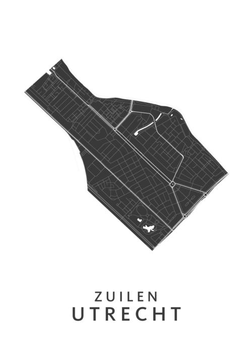 Utrecht - Zuilen White Wijk Map
