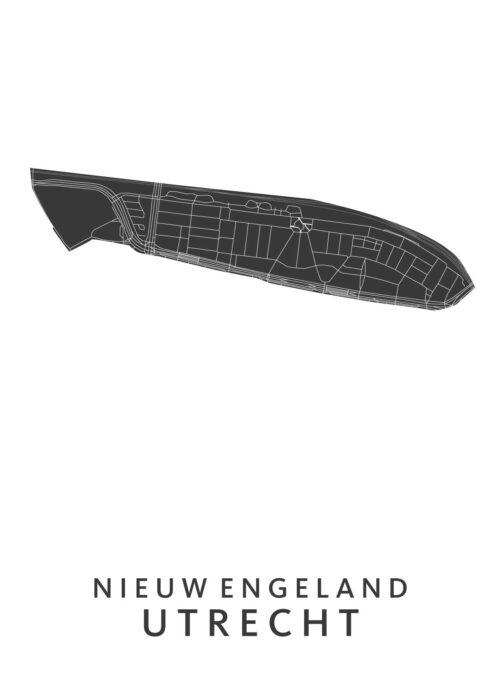 Utrecht - Nieuw Engeland White Wijk Map