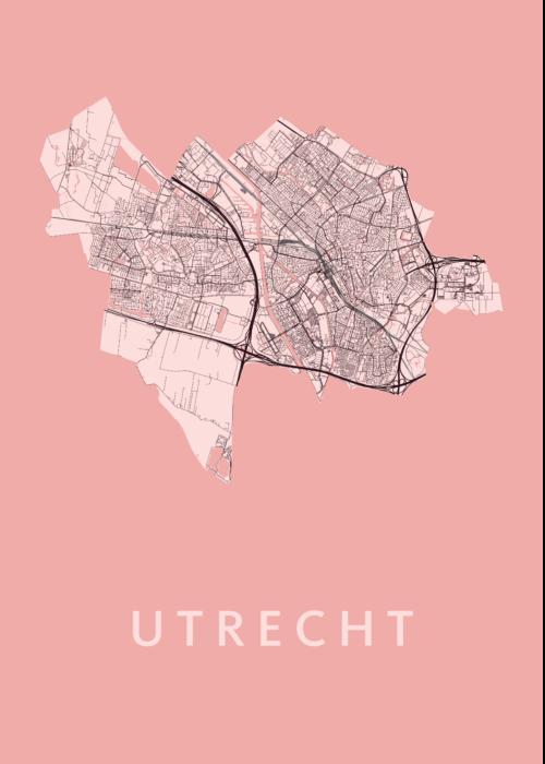 Utrecht - Pink - Map