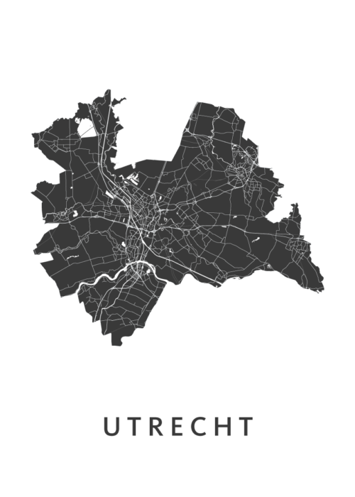 Utrecht Provinciekaart- White