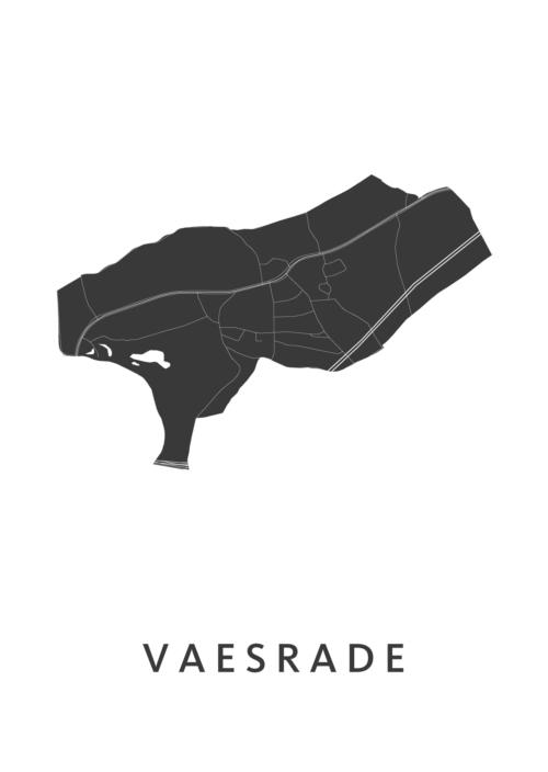Vaesrade Stadskaart - Wit | Kunst in Kaart