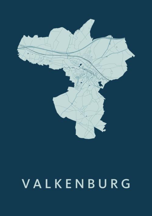 Valkenburg Feldgrau Stadskaart Poster | Kunst in Kaart