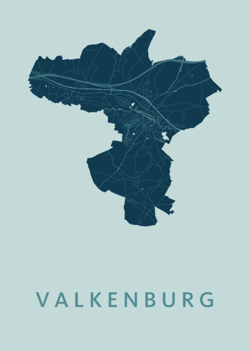 Valkenburg Mint Stadskaart Poster | Kunst in Kaart