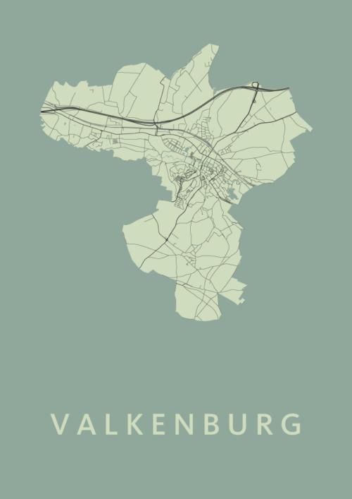 Valkenburg Olive Stadskaart Poster | Kunst in Kaart