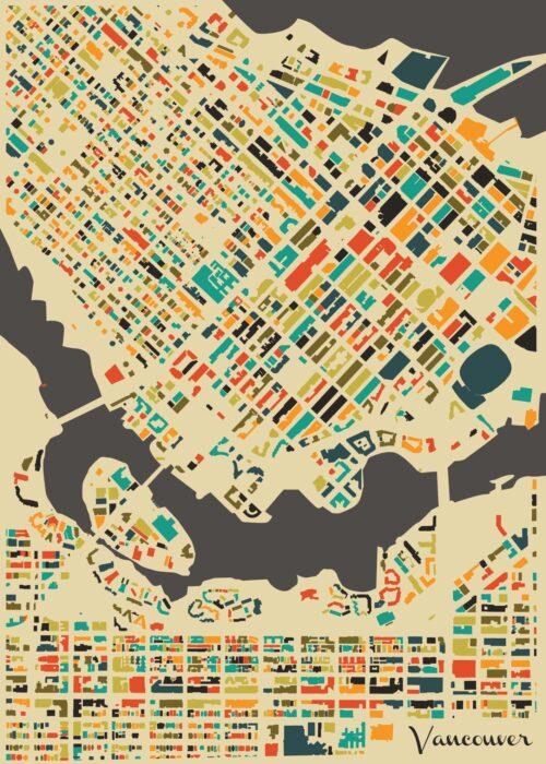 Vancouver Autumn Mosaic Map