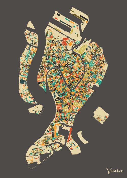 Venice Autumn Mosaic Map