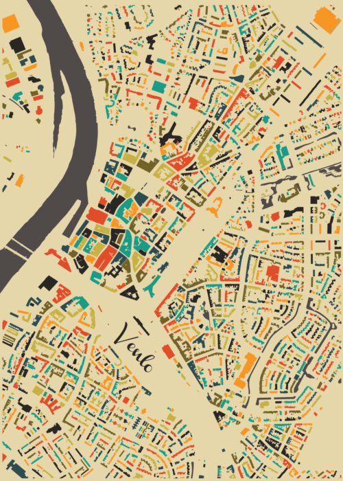 Venlo Autumn Mosaic Map