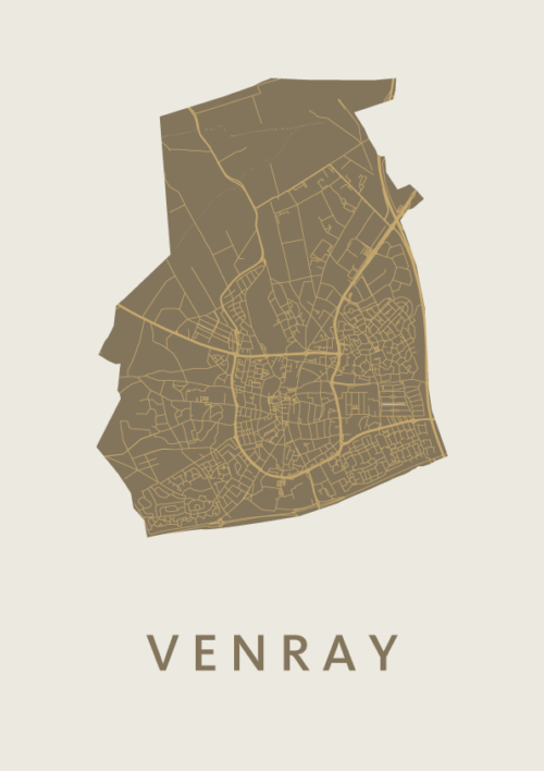 Venray City Map Gold