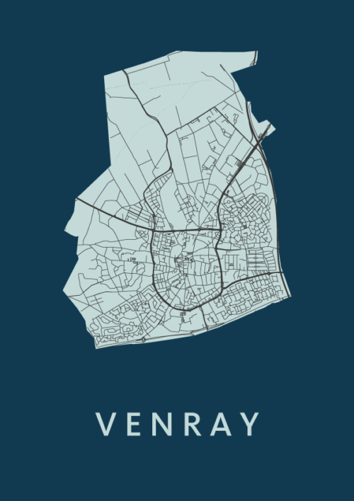 Venray City Map Navy