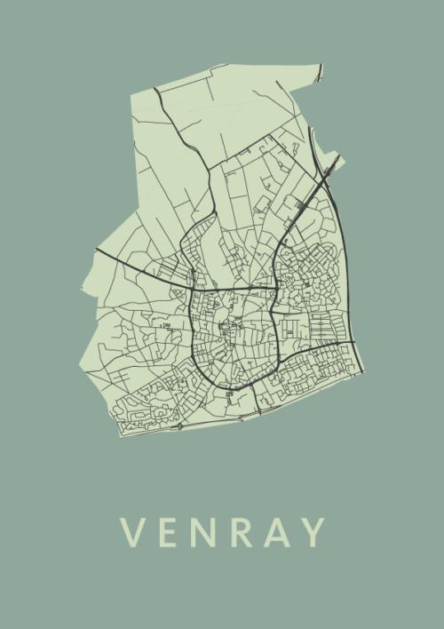 Venray City Map Olive