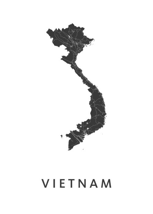 Vietnam Landkaart
