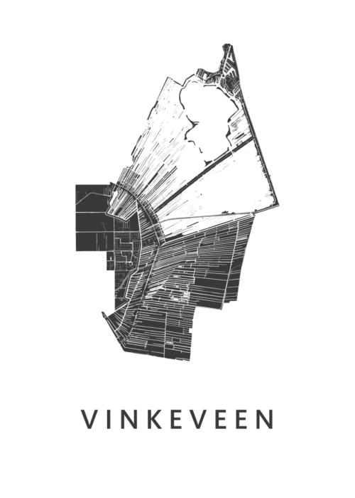 Vinkeveen Stadskaart poster | Kunst in Kaart