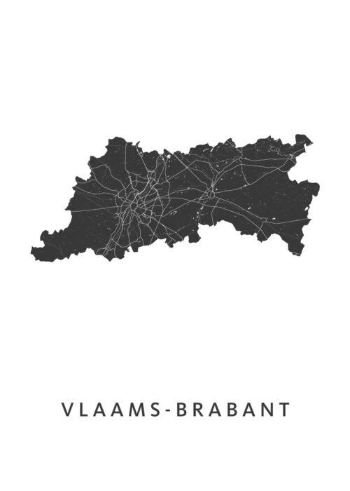 Vlaams-Brabant Provinciekaart Poster