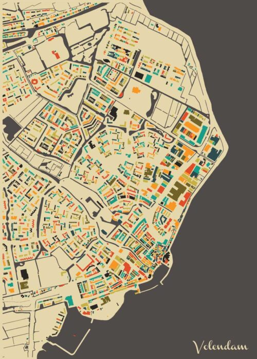 Volendam Autumn Mosaic Map