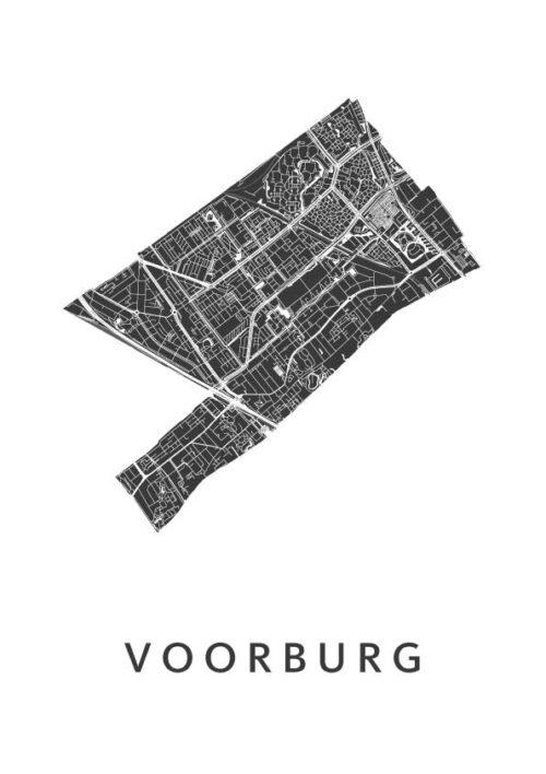 Voorburg Poster Stadskaart