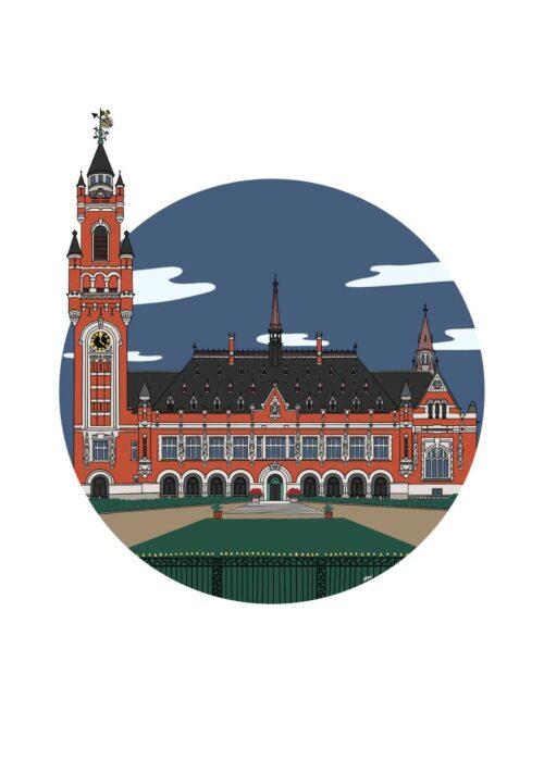 Vredespaleis - Den Haag - Poster