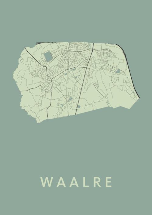 Waalre Olive Stadskaart Poster | Kunst in Kaart