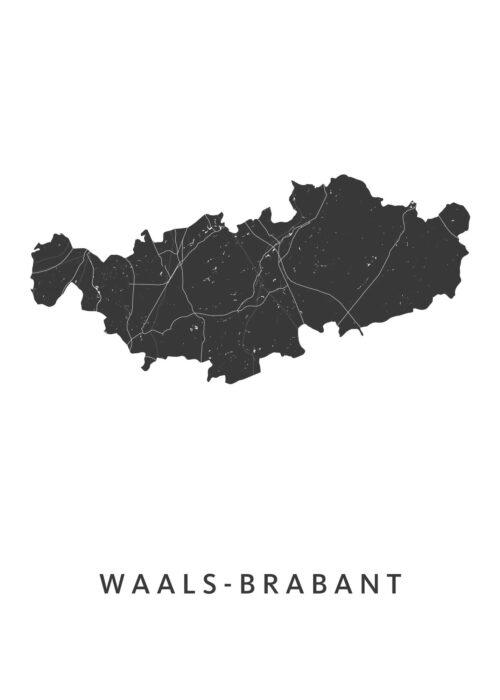 Waals-Brabant Provinciekaart Poster