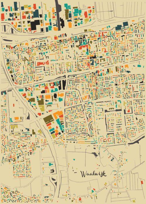 Waalwijk Autumn Mosaic Map