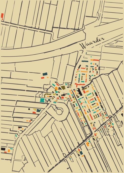 Waarder Autumn Mosaic Map
