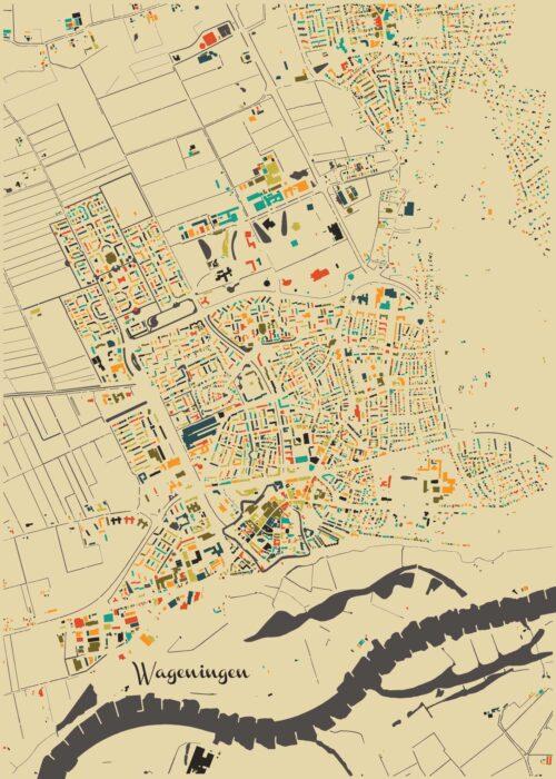 Wageningen Autumn Mosaic Map