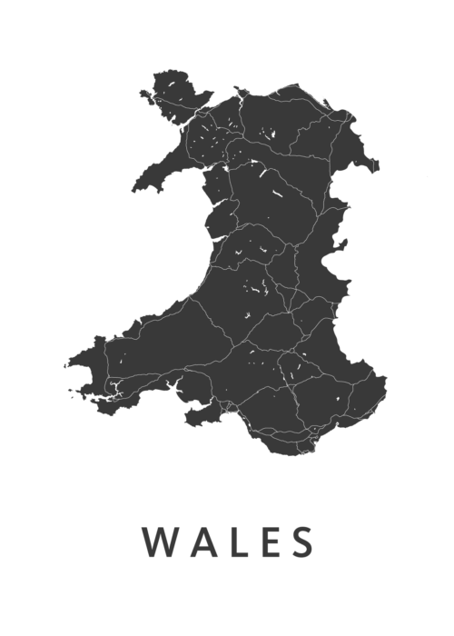 Wales Country Map