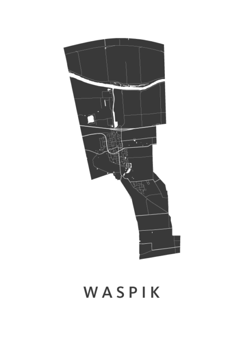 Waspik Stadskaart poster   Kunst in Kaart