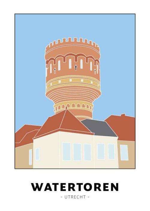 Watertoren - Utrecht - Poster
